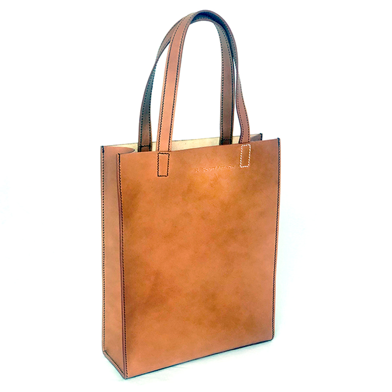 very curated r scott french shopper cognac