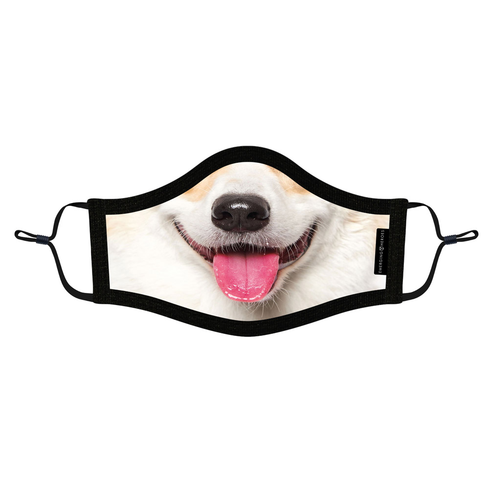 emerging heroes face mask dog