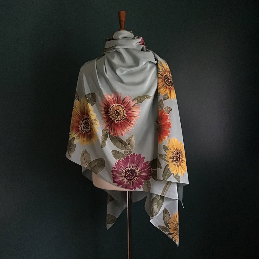 rory worby sunflower fields scarf