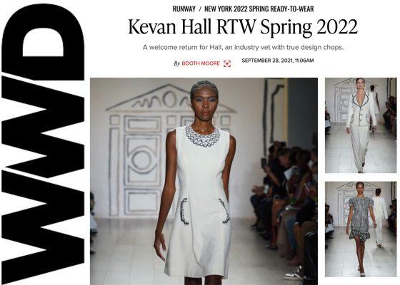 Kevan Hall in WWD September 2021